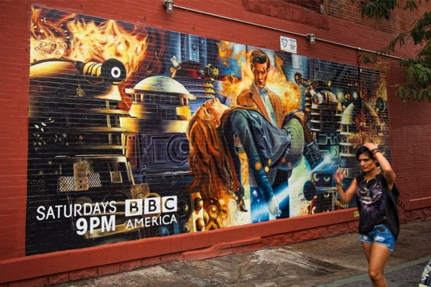 Doctor Who Mural - Brooklyn, New York canvas prints print wall poster help box add home