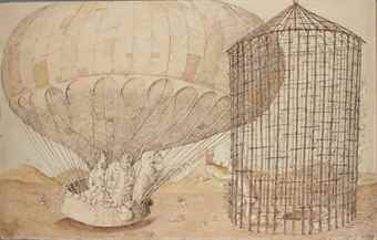 Domenico Gnoli-The departing balloon-1960