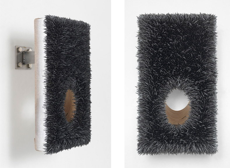 Donald Moffett - Lot 040117 (45° hole, pewter), 2017