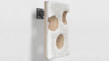 Donald Moffett - Lot 092517 (faccia, titanium white), 2017