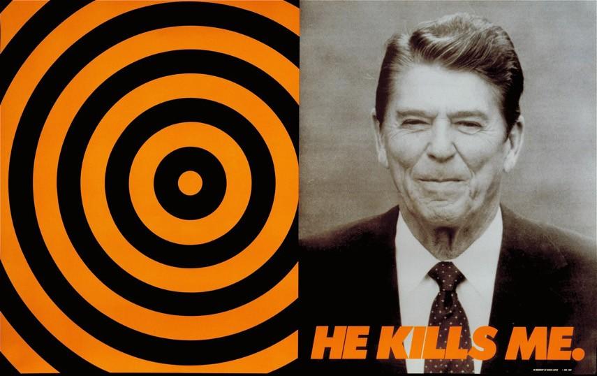 Donald Moffett - He Kills Me, 1987