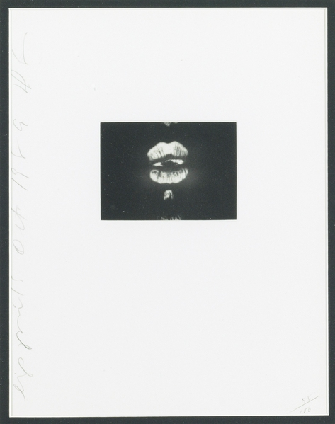 Donald Sultan-Lip Prints (Walker 52)-1989