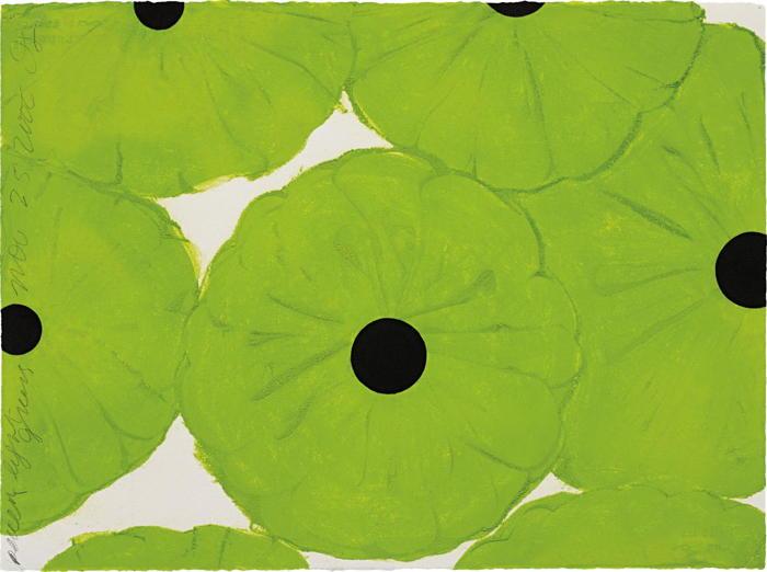 Donald Sultan-Seven Light Greens Nov 25, 2006-2006