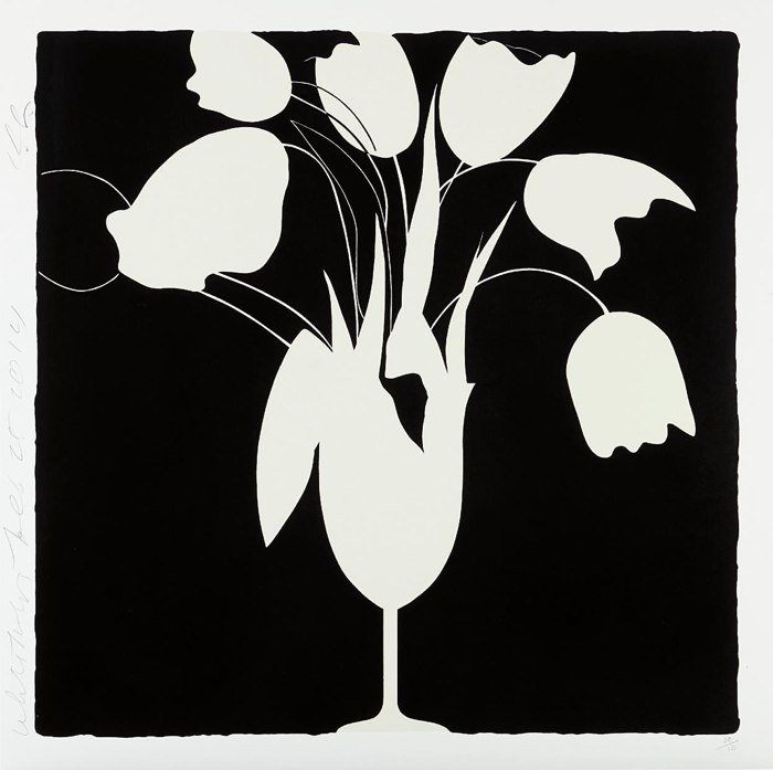 Donald Sultan-White Tulips and Vase-2014