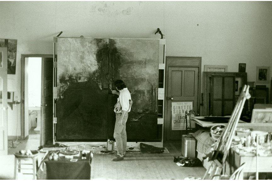 Donald Sultan at his St. Tropez studio