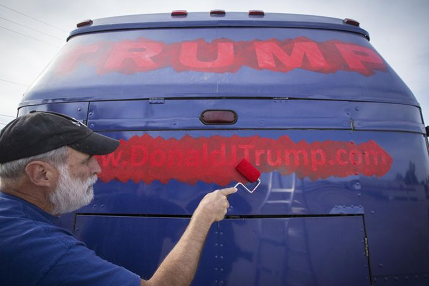 Donald Trump Campaign Bus Art