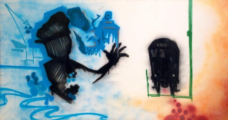 Dondi White - Blue Skies, 1983 (132,3 x 246,5 cm)