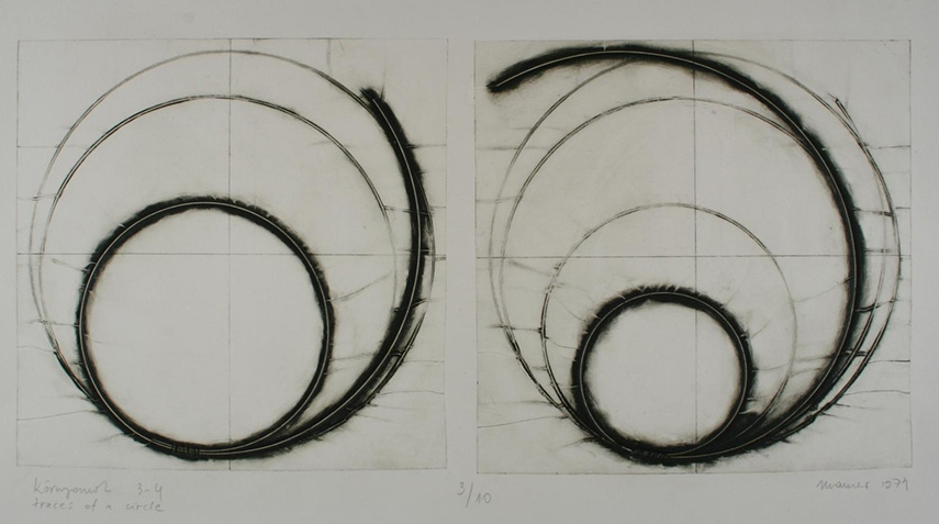 Dora Maurer, Traces of a Circle, 1974 - image via tate.org