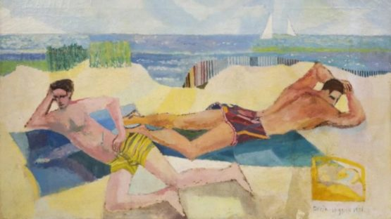 Doria Higgins - Untitled (two men sunbathing Provincetown), 1950 (detail)