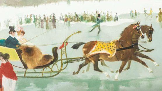 Doris Clare Zinkeisen - Winter Amusement (detail)