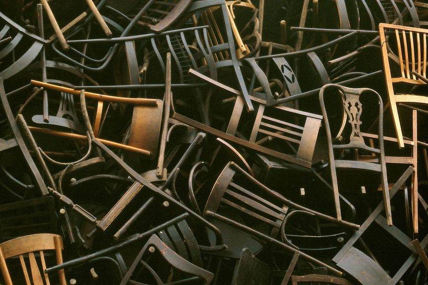 her installations look like chairs