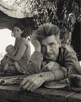 Dorothea Lange-Drought Refugees from Oklahoma, in California, Blythe, California-1936