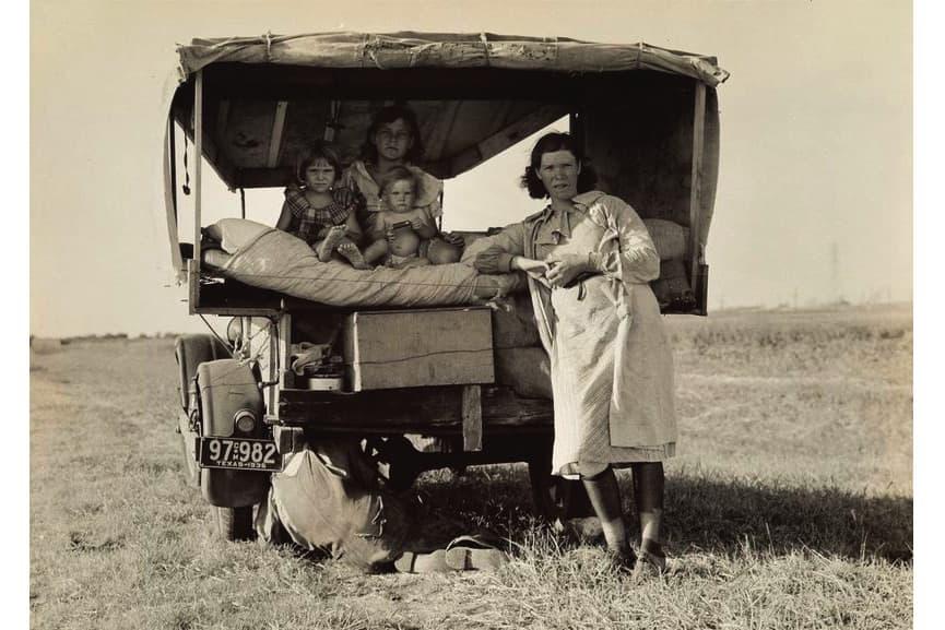 Dorothea Lange - Migrant Family, Texas, 1936