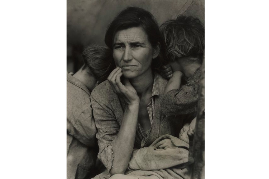 Dorothea Lange - Migrant Mother, Nipomo, California, 1936, from the New York gallery, on view at MFA