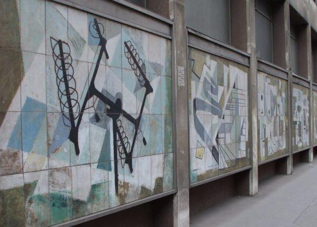 Dorothy Annan - murals - Fleet Building - Farringdon Street City of London