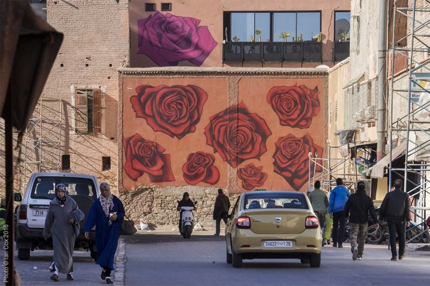Dotmasters - MB6 Street Art Festival - Marrakech, Morocco - photo credit Ian Cox - 1