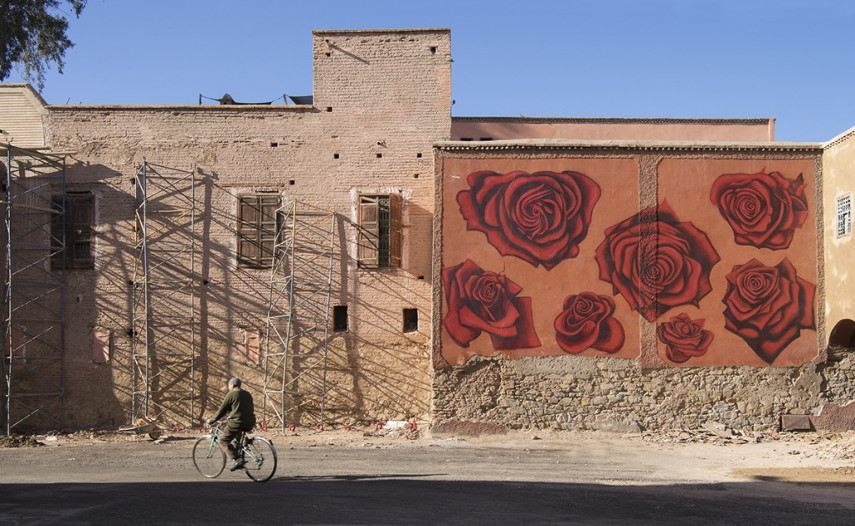 Dotmasters - MB6 Street Art Festival - Marrakech, Morocco - photo credit Ian Cox