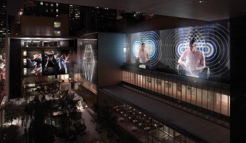 Doug Aitken - Museum Sleepwalkers, 2007 - Image via amazonawscom