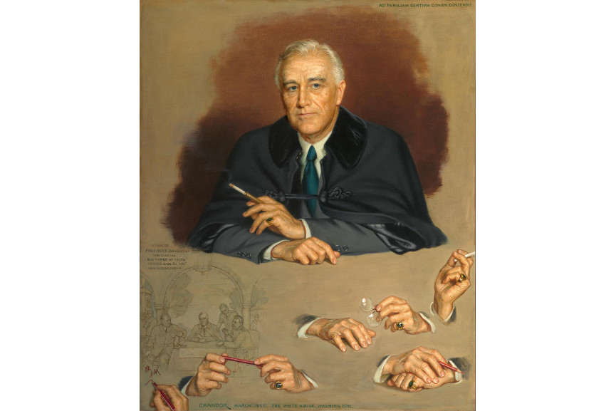 Douglas Chandor - Franklin Delano Roosevelt, Oil on canvas, 1945, washington george national presidents john new search; george john william bush george john william bush