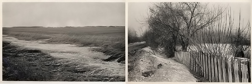 Douglas Clark - Frozen field (left) - Alberta (right), 1979
