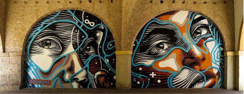 best mural work -Cartagena, Spain - photo via artesemfronteiras