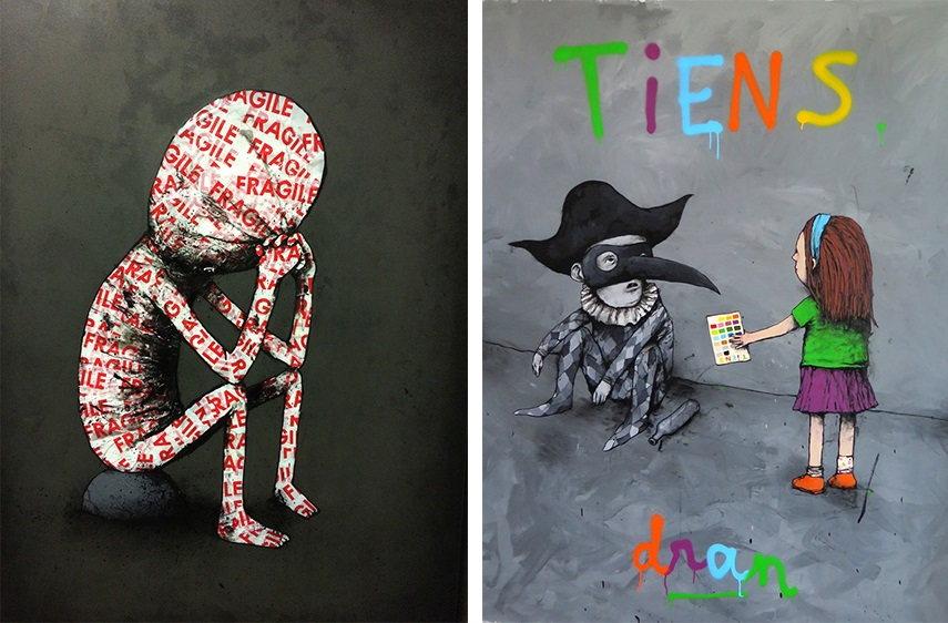 Dran - Fragile Tiens banksy posts pictures