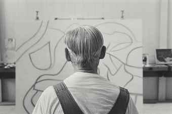 Duane Michals-Willem de Kooning-1985