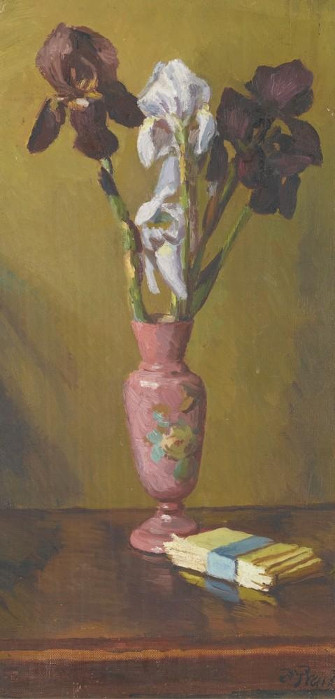 Duncan Grant-Irises In A Vase-1950