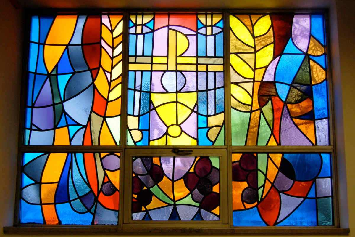 Stained Glass Interior Via Paint Tips Free Ideas Project Painted Using Home Make Best