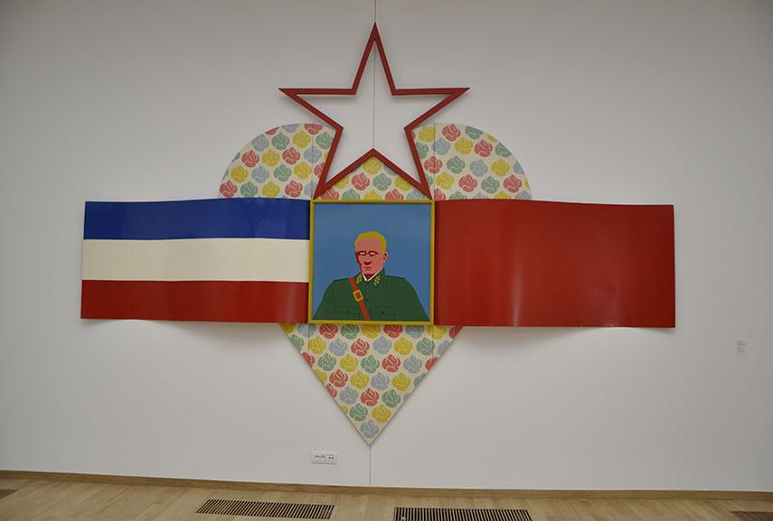 Culture - Belgrade Museum Serbia Opened - Dušan Otašević - Comrade Tito, White Violet, Our Youth Loves You, 1969