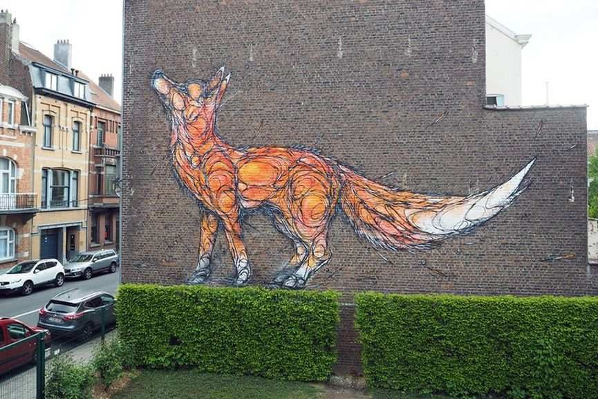 Dzia - Mural in Brussels 2017