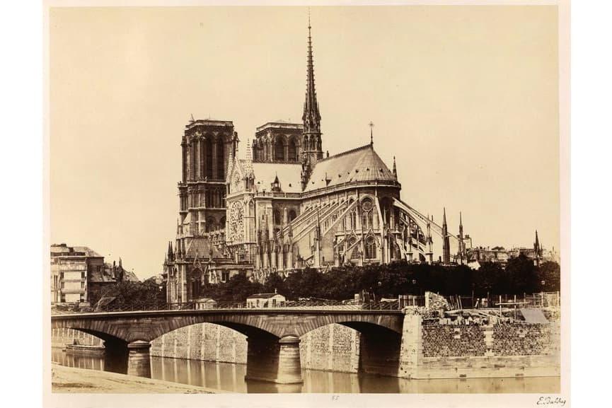 Édouard Baldus - Notre-Dame (Abside),1860s
