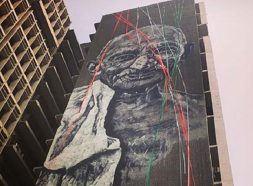 Mural in Dehli