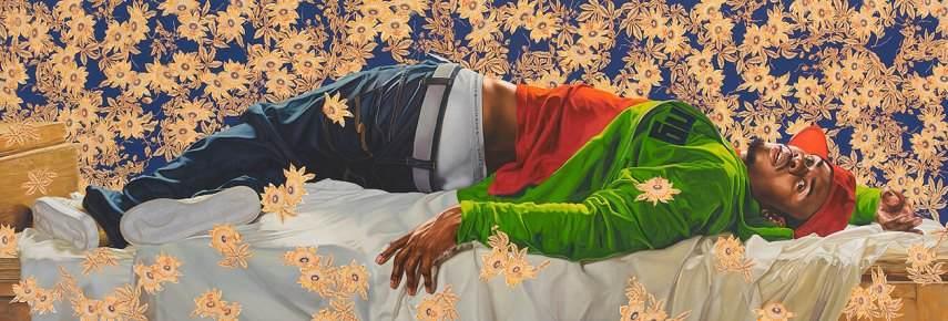 Kehinde Wiley - Femme piquée par un serpent, 2008, Oil on canvas