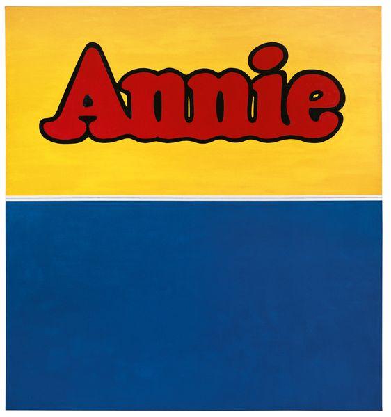 Ed Ruscha - Annie, 1962