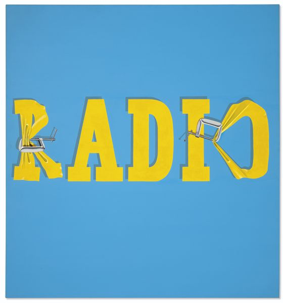 Ed Ruscha - Hurting the Word Radio #2, 1964, on view at christie's new york 2019 auction