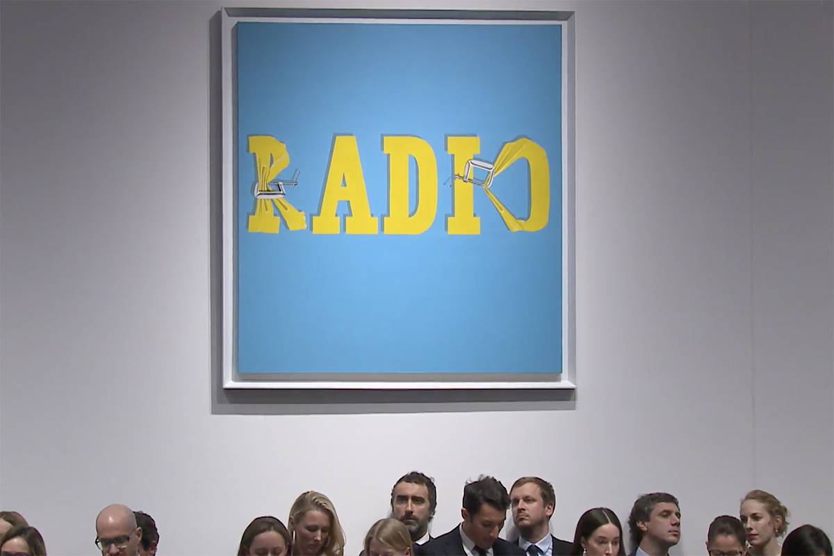Ed Ruscha Hurting the Word Radio