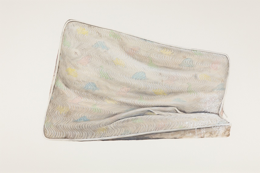 Ed Ruscha - Metro Mattress #9, 2015 - Copyright Ed Ruscha, Courtesy of the artist, Gagosian Gallery and Sprueth Magers museum 2012 paintings modern