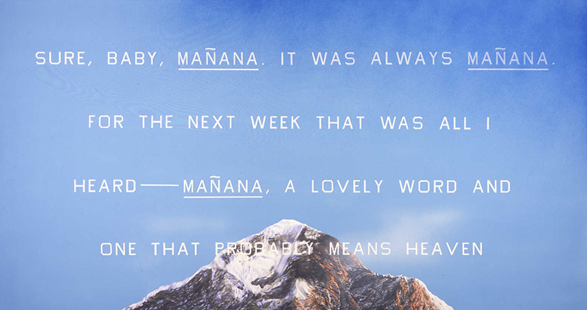 In 1970 food words became old news and Ruscha turned to his new Boy Scout Utility Modern font