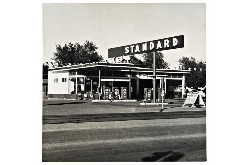 A page from Ed Ruscha - Standard Station, Amarillo, Texas, 1962. Photo from Twenty-six Gasoline Stations