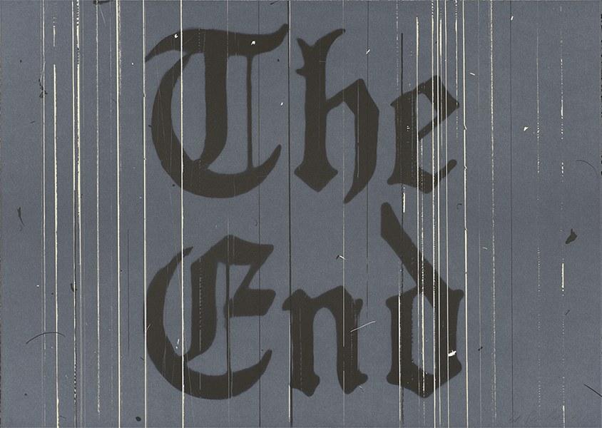 Ed Ruscha - The End, 1991