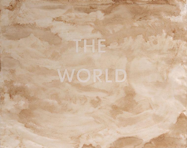 Ed Ruscha - The World, 1977. Courtesy Goodman Gallery