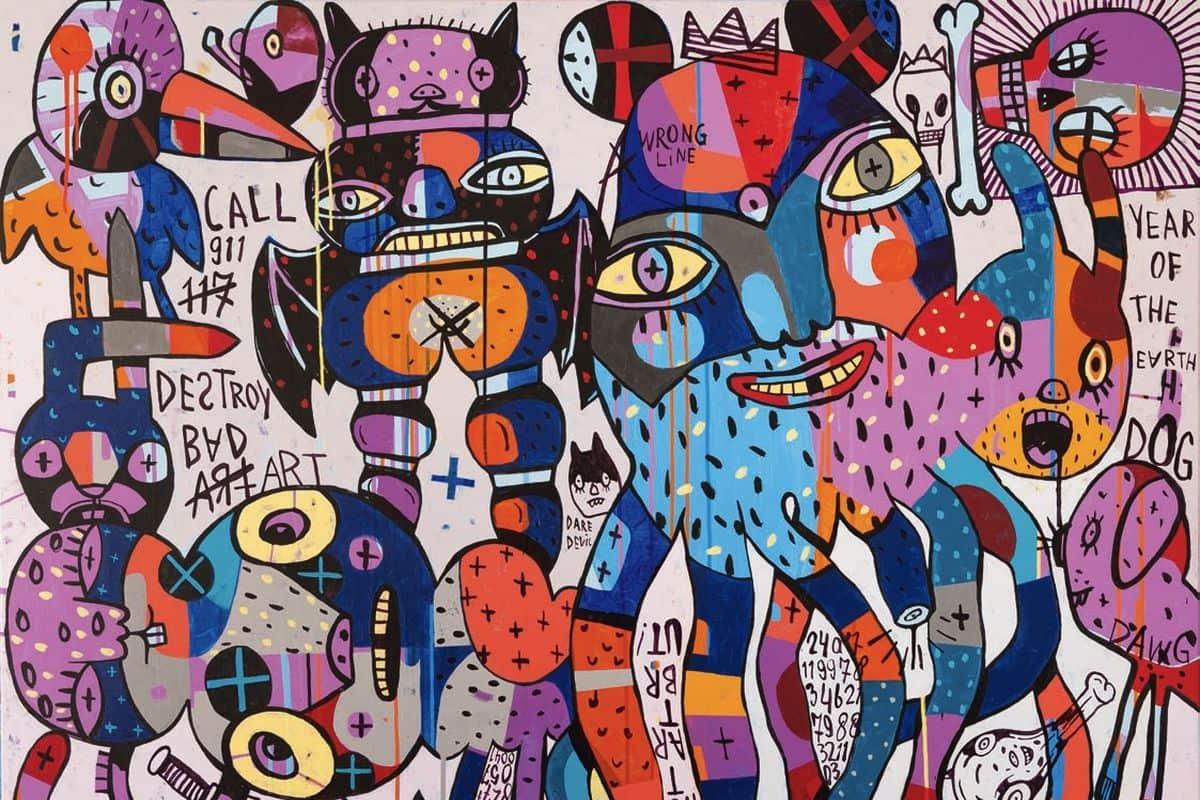 Eddie Hara - Call 911. Destroy Bad Art (detail), 2018