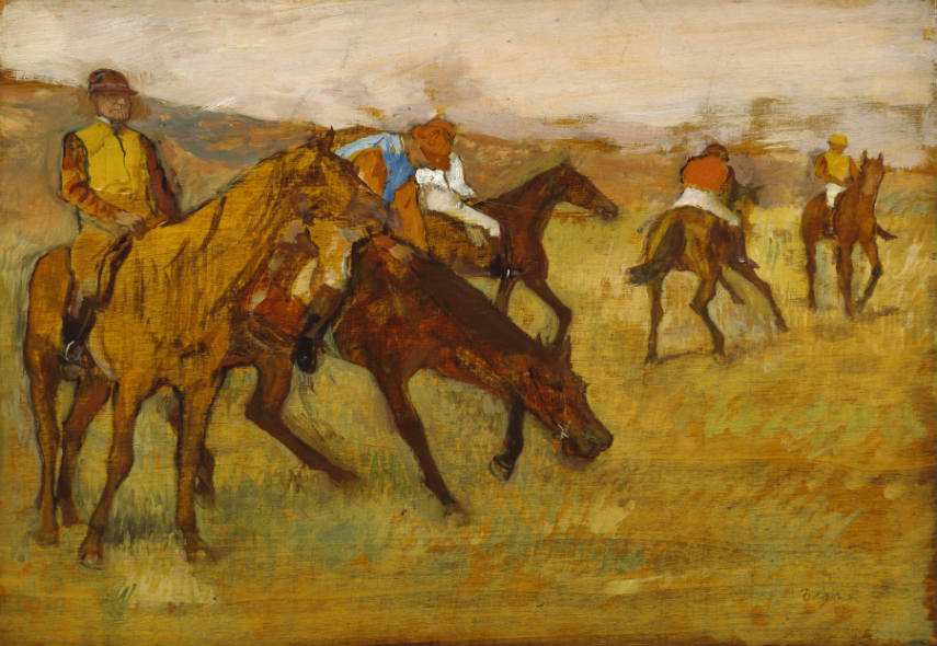 Edgar Degas - Before the Race, 1882-84, photo credits en.wikipedia.org works woman history ballet
