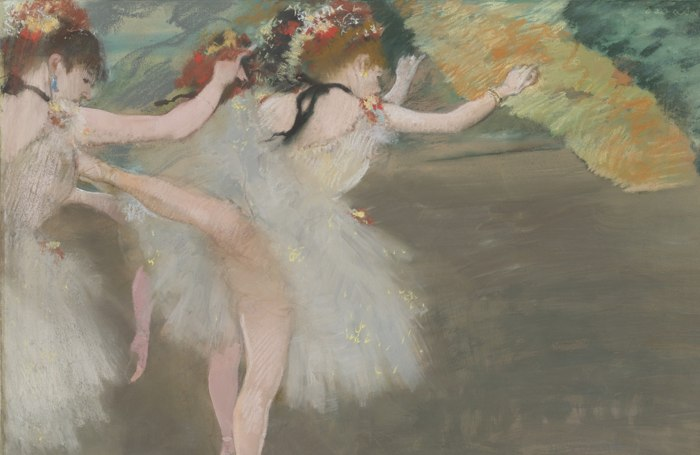 Edgar Degas-Danseuses En Blanc-1878