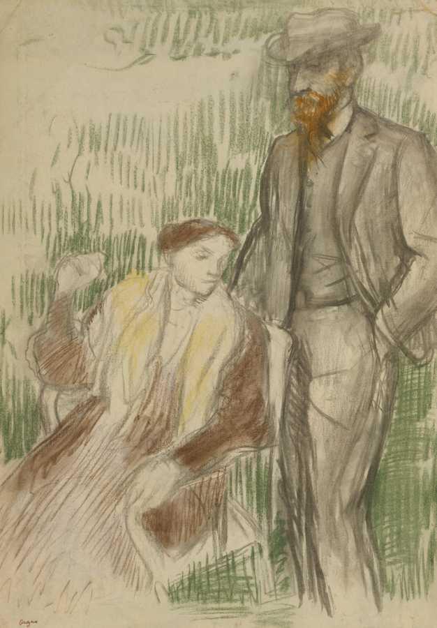 Edgar Degas-Esquisse Pour Un Portrait De M. Et Mme. Louis Rouart-1904