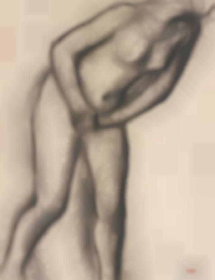 Edgar Degas-Etude De Nu-
