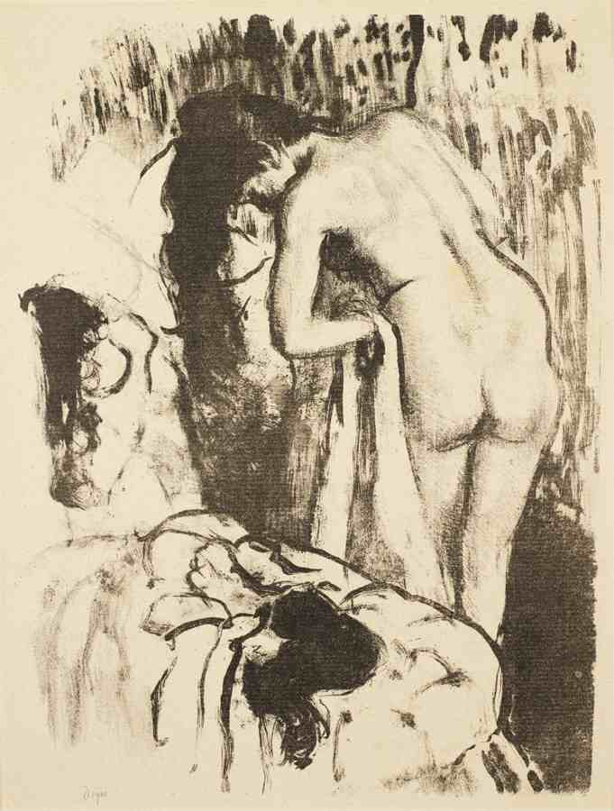 Edgar Degas-Femme nue debout, a sa toilette (Nude Woman Standing, Drying Herself)-1892
