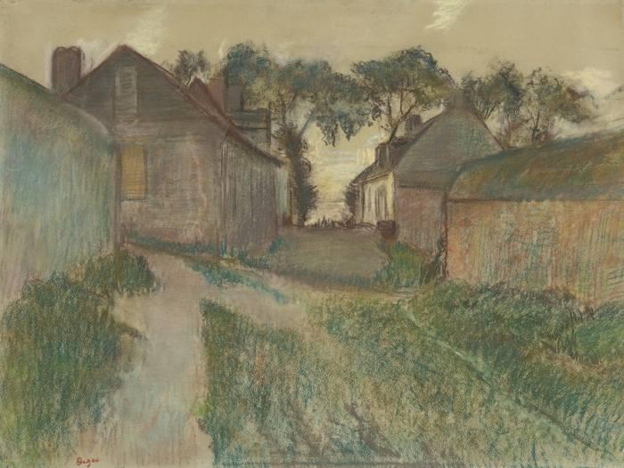 Edgar Degas-La Rue Quesnoy Saint-Valery-Sur-Somme-1895
