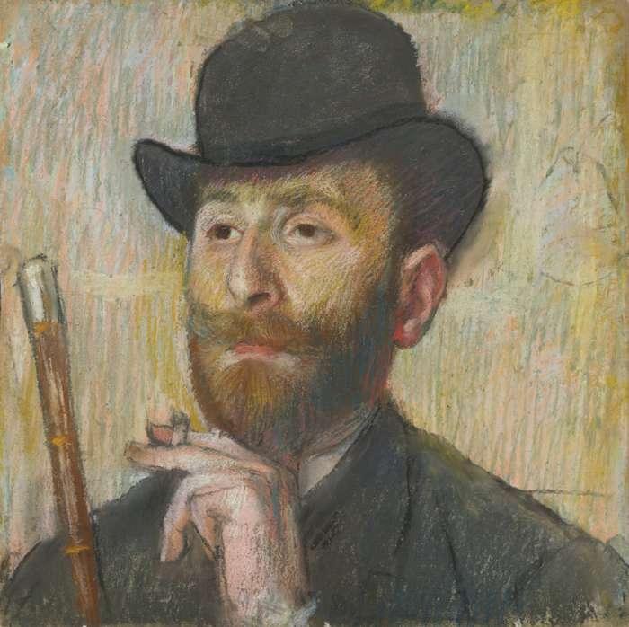 Edgar Degas-Portrait De Zacharian-1885